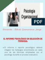 Elaboración Informe Psicologico Organizacional