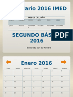 Calendario 2016 IMED Segundo