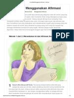 Cara Efektif Menggunakan Afirmasi - WikiHow