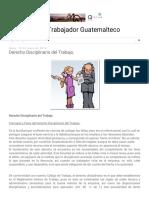 Derecho Disciplinario Del Trabajo.