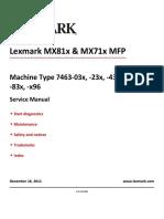 MX711 MX81x Machine Type 7463