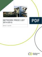 Endeavour-Energy-Document-Network-Price-List
