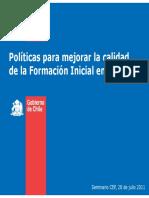 1 Politicas Para Mejorar La Formacion Inicial