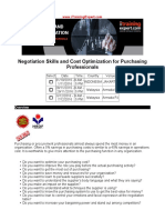 Negotiation Skills and Cost Optimization for Purchasing Professionals