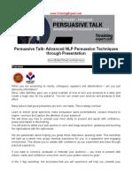 Persuasive Talk Advanced NLP Persuasion Techniques Through Presentation