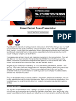 Power Packed Sales Presentation