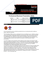 Professional Business Presentation Skills