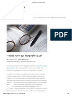 How to Pay Your Nonprofit Staff