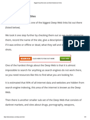 Biggest Deep Web Links List _ Most Detailed List Online