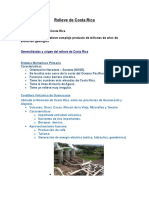 Relieve de Costa Rica Resumen