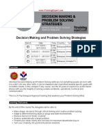 Decision Making and Problem Solving-Strategies