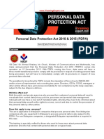 Personal Data Protection Act 2010 & 2015 (PDPA)