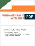 Dictionary Skills n Vocab
