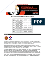 Secretarial and Administrative Skills