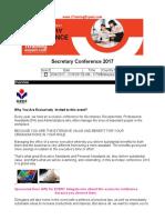 Secretary Conference 2017
