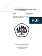 Pemeriksaan Kemurnian Bahan Baku ZnO Dengan Kompleksometri