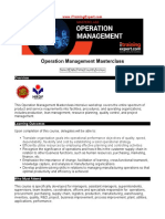 Operation Management Masterclass