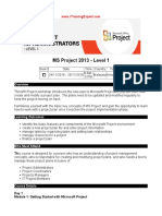 MS Project 2013 Level 1