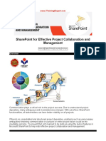 SharePoint for Effective Project Collaboration and Management