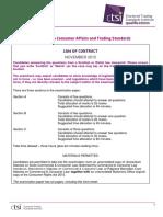 Law of Contract Nov 2015