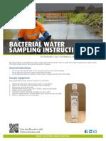 CANADA Bacterial Water Sampling Instructions