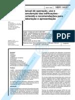 NBR 14037 - 1998 - Manual de Operação, Uso e Manutenção Das Edificacoes