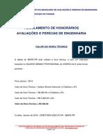 Valor Da Hora Tecnica IBAPE 2016