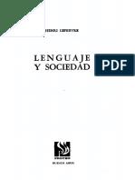Lefebvre Henri - Lenguaje Y Sociedad