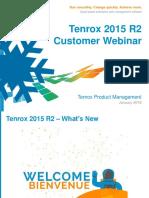 Tenrox 2015 R2 Webinar FINAL