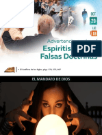 Lección 18 - Advertencia Contra El Espiritismo y Las Falsas Doctrinas