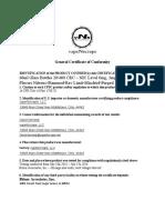 vapeNscrape General Certificate of Conformity.pdf