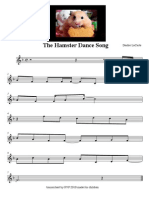 """""""The Hamster Dance Song"""" sheet music"""