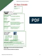 Natchez Trace EPA Rates Schedule