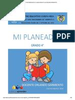 PDF Print PLANEADOR DE CLASES GRADO 4° doc ORLANDO SARMIENTO