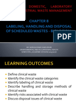 Chapter 8 Labeling Handling and Disposal of Schedule Waste Biological