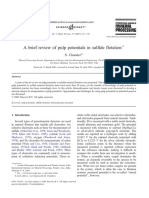 A Brief Review of Pulp Potentials in Sulfide Flotation