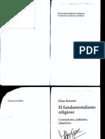 Klaus Kienzler Fundamentalismo Religioso