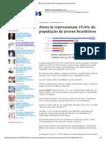 Ateus Já Representam 19,4% Da População de Jovens Brasileiros