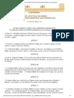 Acordo Entre a Santa Sé e o Brasil Sobre a Assistência Religiosa Às Forças Armadas
