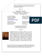 OPO Essay 04 - Rebuilding Reality - A Phenomenology of Aspects of Chronic Schizophrenia - By Osborne Wiggins and Colleagues