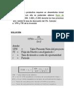 Ejercicio VPN Y TIR