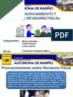 Pronunciamiento 7 Sobre Revisoria Fiscal