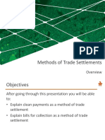 4 Methods of Trade Settlements