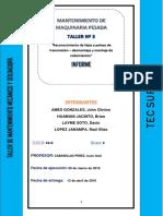 Informe 3 Taller Mecanico Tecsup