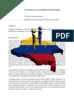 Informe Sobre Por Qué Los Colombianos Somos Pobres