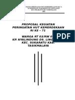Sansan Munawar Contoh Proposal Kegiatan HUT RI