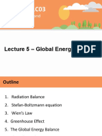 Lecture 5 - Global Energy Balance - A2L