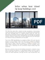 BioSkin Defies Urban Heat Island Effect to Help Keep Buildings Cool