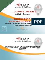 Semana 1 - Introduccion a La Neuropsicologia Clinica