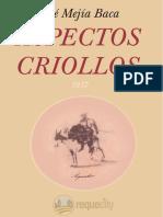 Aspectos Criollos - Jose Mejia Baca